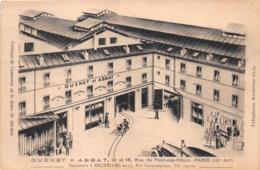 """¤¤   -    PARIS    -  Carte Publicitaire """" GUENET Et ABBAT """" 13 Et 15 Rue Du Pont-aux-Choux   -  ¤¤ - Arrondissement: 03"""