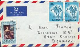Ghana Air Mail Cover Sent To Denmark 15-8-1979 - Ghana (1957-...)