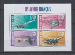 J942. Niger - MNH - 2013 - Transport - Aviation - Planes - France - Verkehr & Transport