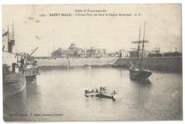 35 SAINT MALO - L'avant Port - Depart D'un Hydravion Hydroaeroplane - Cpa Ille Et Vilaine - Saint Malo
