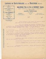 FA 1511- FACTURE - FROMAGE   LAITERIE DE HAUTE GOULAINE  HALLEREAU  &v  HERVOUET   (LOIRE INFERIEURE ) (1930) - Alimentos