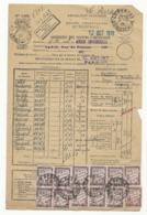 Bordereau Valeurs à Recouvrer N°1485 - 1933 - Le Perray - Taxé à 6 Frs - Impuestos