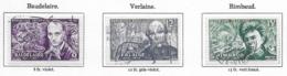 Poètes  Symbolistes (Série Complète De 3 Timbres) - Oblitérés