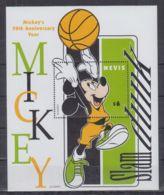 S703. Nevis - MNH - Cartoons - Disney's - Characters - Basketball - 1 - Disney