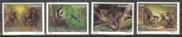 RWANDA  Animals(monkeys) Set 4 Stamps  MNH - Stamps