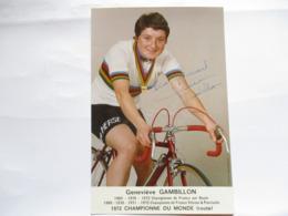 Cyclisme Photo Signee Genevieve Genevieve Gambillon - Ciclismo