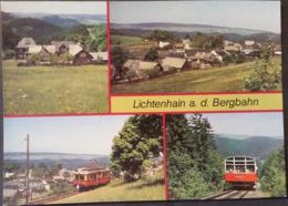 Ak DDR - Lichtenhain A. D. Bergbahn - Übersicht - Bergbahn - Lichtenhain