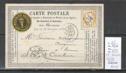 France -Carte Postale Précurseur - Yvert 55 - Bort En Correze - GC 534 - Marcofilia (sobres)