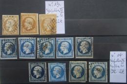 LOT DE CLASSIQUES. N° 13 / N°14. - 1853-1860 Napoleon III