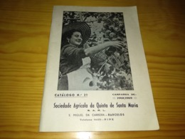 Book, Livro - Catálogo Da Soc. Agric. Quinta De Santa Maria - Barcelos 1968/1969 - Boeken, Tijdschriften, Stripverhalen