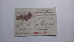 Carte De Visite Droguerie Gébhard Rue Bonnemère Saumur Anciennes Maisons Bonneau Et Lazé - Visitekaartjes
