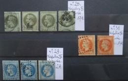 LOT DE CLASSIQUES. N° 25 / N°29 / N° 31. - 1863-1870 Napoléon III Lauré