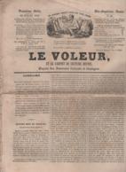 LE VOLEUR 20 07 1844 - MADRID - TRAVAIL DES ENFANTS / WOOLWICH KENT - BARLETTA PUGLIA - CHARLES NODIER - MEZERIAT AIN - - Kranten
