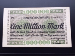 GERMANY NOTGELT  1 MILLION MARK 12.08.1922 AUNC - [11] Lokale Uitgaven