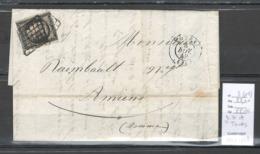 France -Lettre Ceres Yvert 3 - Grille De Tours - Novembre 1849 - Marcofilia (sobres)