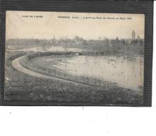 27-VERNEUIL-sur-AVRE-Une Vue De La CRUE Du AVRE Au Pont De Pierre En Mars 1910 - Verneuil-sur-Avre