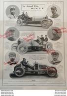 1906 COURSE AUTOMOBILE LE GRAND PRIX DE L.'A.C.F - LA VIE AU GRAND AIR - 1900 - 1949