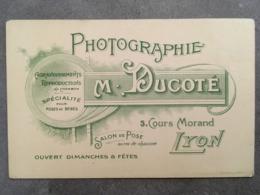 CARTE PUB PHOTOGRAPHIE M.DUCOTE 3 COURS MORAND LYON - Autres
