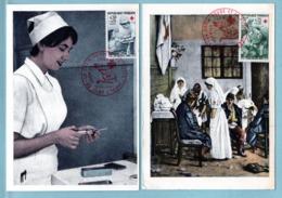 Carte Maximum France 1966  - Croix Rouge 1966  - YT 1508 Et 1509 - 42 Saint Etienne - Maximum Cards