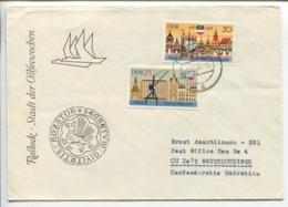 Circulated FDC - Rostock, 1968 - [6] Democratic Republic