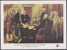 United States USA 1419/23 - The Declaration Of Independence At Philadelphia 1976 M/S - MNH - Unabhängigkeit USA