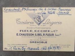 CARTE PUBTOILERIE LINGERIE FLEUR ROGIER 145 COURS BERRIAT GRENOBLE - Frankreich