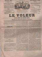 LE VOLEUR 25 07 1844 - WOOLWICH KENT - STORK GALWAY - QUITO COURSE DE TAUREAUX - TELEGRAPHE ELECTRO-MAGNETIQUE - Kranten