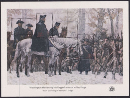 United States USA 1429/33 - Washington Rewiewing His Ragged Army At Valley Forge 1976 M/S - MNH - Unabhängigkeit USA