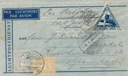 Nederlands Indië - 1934 - 3 Zegels Op Postjager-briefje Van Tasikmalaja Naar Den Haag / Nederland - Nederlands-Indië