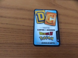 Carte De Visite * «DC VENTES CARTES & GOODIES - DRAGONBALL Z - Pokémon - DJOULICARTE» - Visitekaartjes