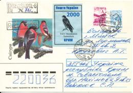 Ukraine Uprated Registered Postal Stationery Cover Sevastopol 2-2-1995 Also With A BIRD Seal - Ukraine