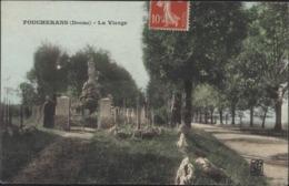 CPA Foucherans Doubs La Vierge CAD Perlé Trépot 4 5 08 - France