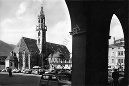 Cartolina Bolzano Chiesa Parrocchiale Auto D'epoca 1961 Timbro PT - Bolzano (Bozen)