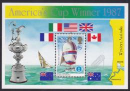 Solomon Islands 633 - America's Cup Winner 1987 M/S - MNH - Vela
