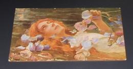 Fantaisie - Portrait De Femme Avec Fleurs : Ophélie :::: Illustrateurs : G. Bussiere  ------ 513 - Illustrators & Photographers