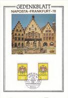 BRD 2x 948  Auf Sonderkarte Zur NAPOSTA '78 Mit SoStempel: Frankfurt Main 100 Jahre VBK 21.5.1978 - [7] República Federal