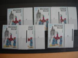 Belgique. 1948** Thuin. Les 6 Numéros De Planche.Vendu Prix Postal + Frais Inhérents à La Vente. - Plate Numbers