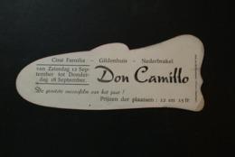Nederbrakel - Publiciteit Ciné Familia Gildenhuis (Don Camillo - Afbeelding Fernandel) - Brakel