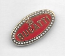Pin's  Fond  Rouge, Automobile  Sigle  BUGATTI - Andere