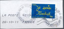 """France - Série """"Sourires"""" Par Ben YT A609 Obl. Cachet Rond Manuel Et Empreinte Toshiba Sur Fragment - France"""