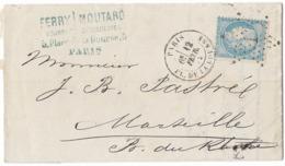 TIMBRE 60/1   ; LETTRE Cachet PARIS , Étoile 1 ; Planché  127 G1 ; TTB - 1871-1875 Cérès