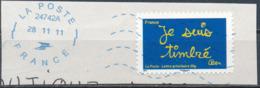 """France - Série """"Sourires"""" Par Ben YT A609 Obl. Ondulations Et Dateur Rond Bleu Sur Fragment - France"""