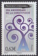 ANDORRE - 20e Anniversaire De La Constitution - French Andorra