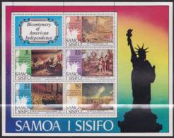 Samoa 337/41 - American Revolution Paintings 1976 M/S - MNH - Unabhängigkeit USA
