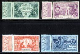 Martinique 1931 Yvert 129 / 132 ** TB Bord De Feuille - Martinique (1886-1947)
