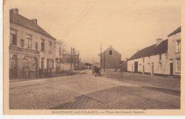 MONTIGNY LE TILLEUL / PLACE DU GRAND CHEMIN / ATTELAGE - Montigny-le-Tilleul