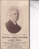 BAELEN WEZEL MArie Victor De BELLEFROID Veuf ERNST Ingénieur DP Foto Photo Souvenir Mortuaire - Obituary Notices