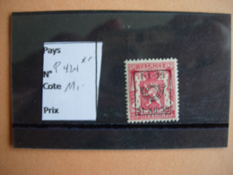 Belgique. Préoblitéré 424 **(1939) - Typografisch 1936-51 (Klein Staatswapen)