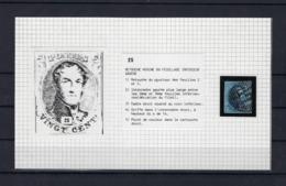 N°7 (plaat III Positie 25) GESTEMPELD MET 4 MARGES P123/A.1 Verviers COBA € 8,00 SUPERBE - 1851-1857 Médaillons (6/8)