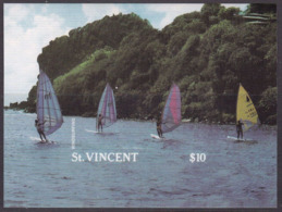 St Vincent 1123 - Tourism Windsurfing 1988 Imperforate M/S - MNH - Vela